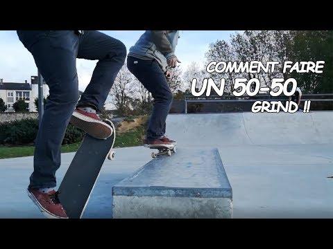 [COMMENT] FAIRE UN 50 50 GRIND ?! Débuter le Skate #3