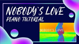 How to play Nobody''s love - Maroon5 Piano tutorial