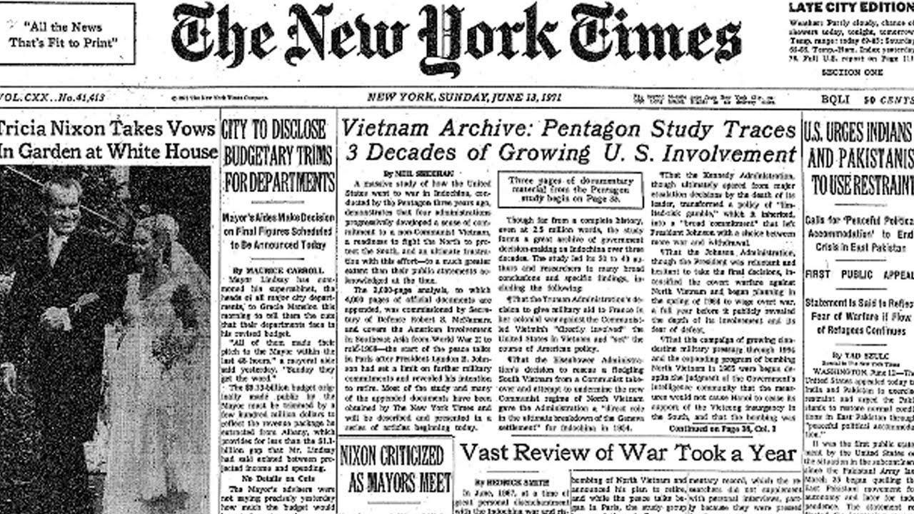 """13 Juni dalam Sejarah: Dokumen Rahasia AS Terkait Dosanya di Vietnam Dibocorkan """"New York Times"""""""
