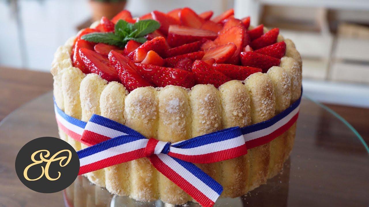 Strawberry Charlotte Cake Recipe 苺のシャルロットの作り方