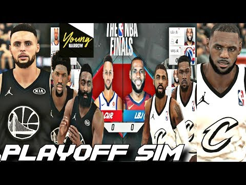TEAM LEBRON VS. TEAM CURRY ALL STAR GAME 7 GAME SERIES PLAYOFF SIMULATION ON NBA 2K18!!!