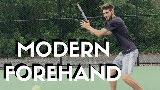 How To Hit Modern Forehand With Spin   Connecting Tennis   Forehand