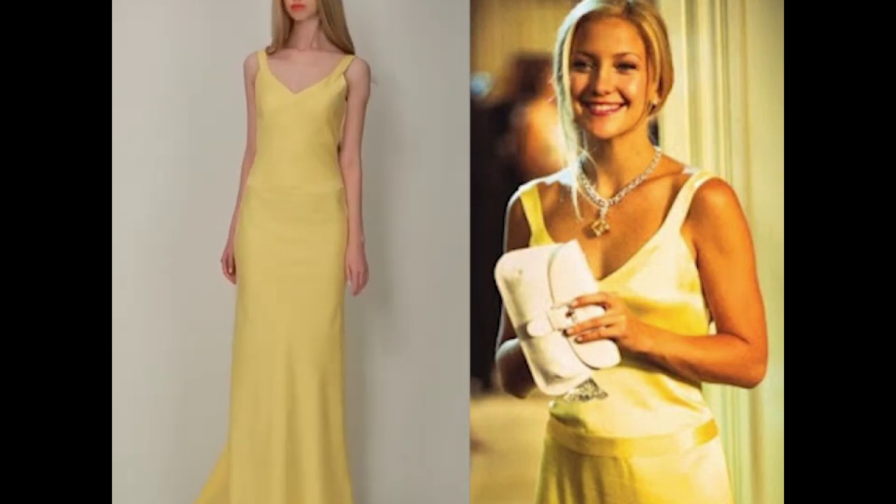 Kate Hudson Yellow Evening Prom Dress In How To Lose A Guy In 10 Days Youtube