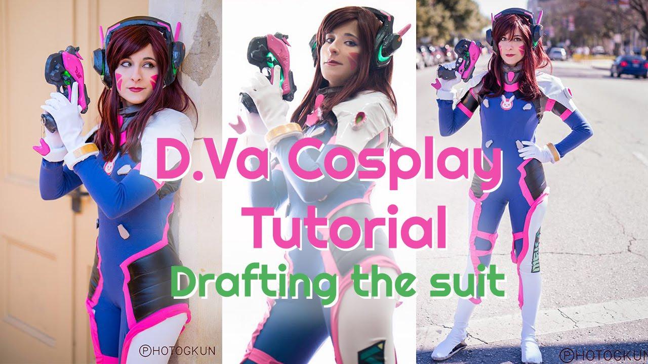 overwatch d va cosplay tutorial bodysuit explanation youtube