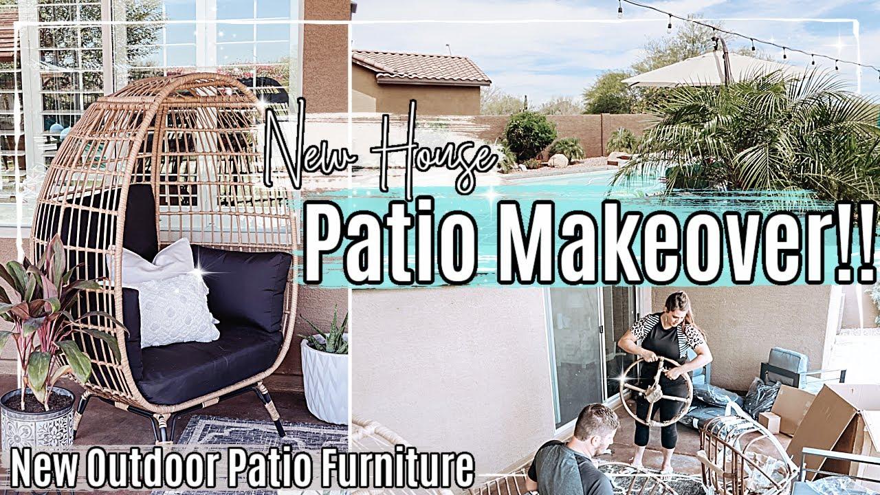 ☀️ ARIZONA PATIO MAKEOVER 2021 :: NEW HOUSE TRANSFORMATION + NEW OUTDOOR PATIO FURNITURE