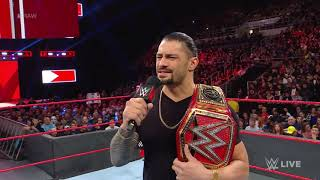 Roman Reigns relinquishes the Universal Title to battle his returning leukemia Raw Oct  22 2018