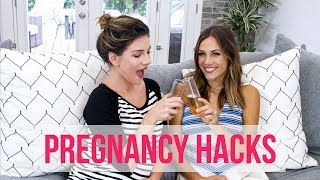 PREGNANCY HACKS | Prevent Stretch Marks, DIY Maternity Clothes & More! | Shenae Grimes & Jana Kramer