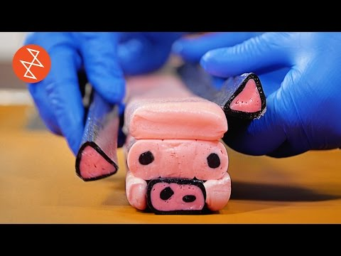 How to Make Handmade Candy With Pig Design | Où se trouve: CandyLabs