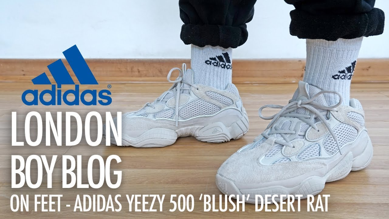 8987a43a5c3f8 On Feet - Adidas YEEZY 500  Blush  Desert Rat - YouTube