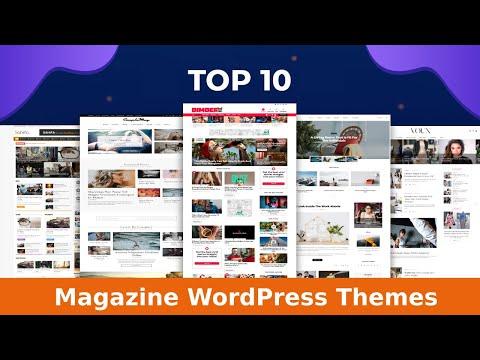 Responsive magazine template wordpress