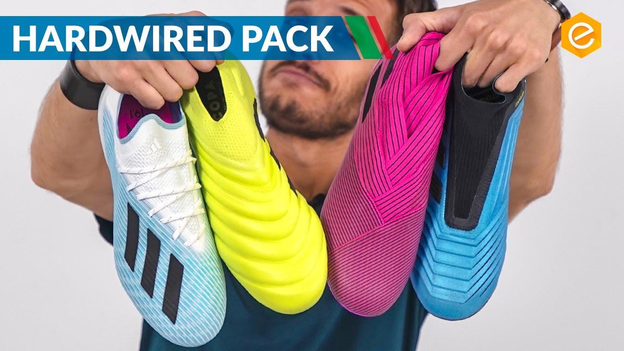 adidas Predator 19+ azzurra con HardWired Pack Fútbol Emotion