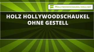 46  Holz Hollywoodschaukel ohne Gestell
