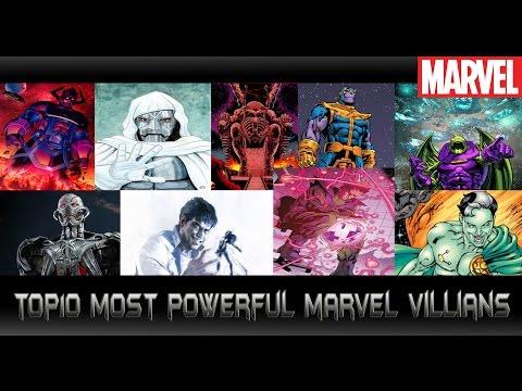 [10อันดับตัวร้ายขั้นเทพมาเวล][Top10 most powerful marvel villians]comic world daily