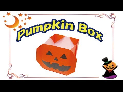Origami Pumpkin Box | How to Make a Paper Halloween Jack o Lantern Box with 1 Paper
