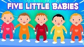 Fünf kleine Babys | Kinderreime auf Deutsch | Five Little Babies | Baby Songs And Rhymes