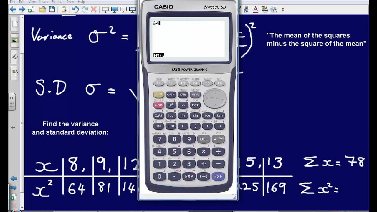 Standard deviation and variance s1 edexcel youtube ccuart Images