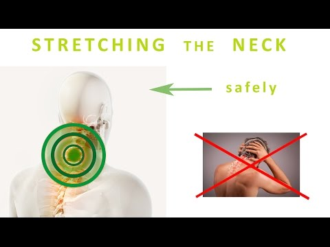 How to stretch the Neck Muscles - with minimum pressure in the cervical spine