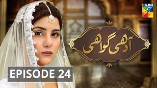 Adhi Gawahi Episode #24 HUM TV Drama