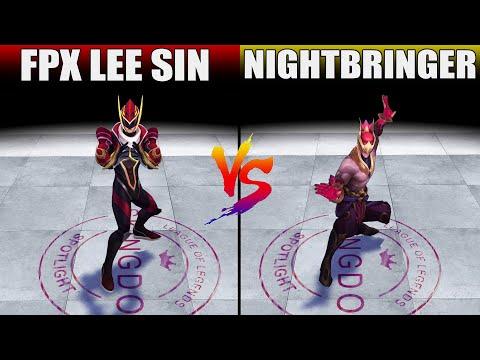 FPX Lee Sin vs Nightbringer Lee Sin Skin Comparison (League of Legends)