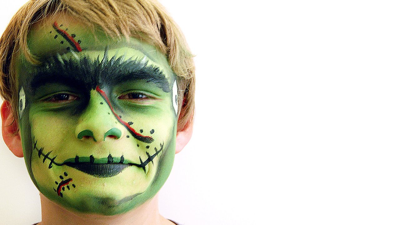 frankenstein face paint tutorial hobbycraft youtube