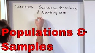 What is a Population in Statistics?  Online Statistics Course - Sample Definition - Statistics Help