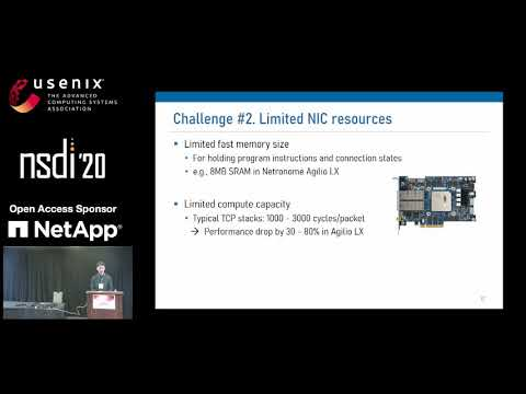NSDI '20 - AccelTCP: Accelerating Network Applications with Stateful TCP Offloading