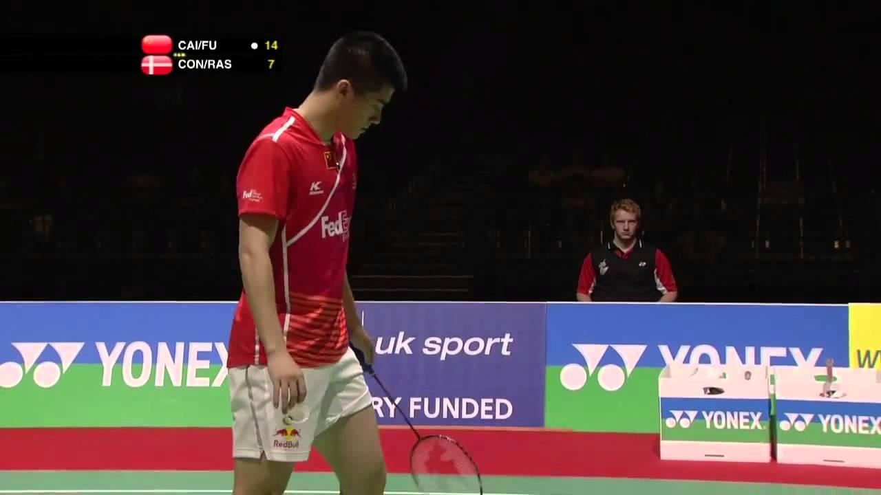 2011 World Championships MD QF] Yun Cai Haifeng Fu vs Mads Conrad