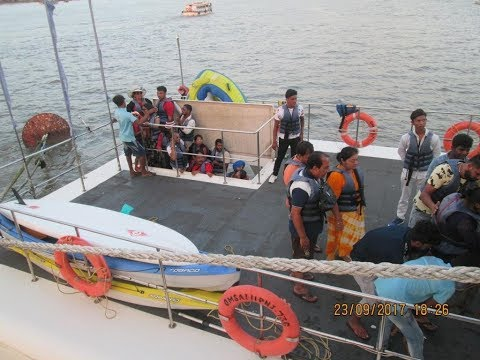 TOURISTS RESCUED IN GOA, PASSENGER CRUISE COLLIDES WITH CASINO