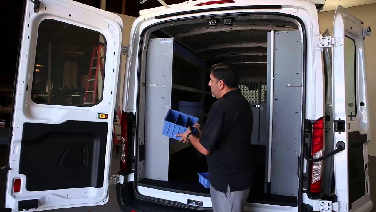 Ford Transit Cargo Van Shelving Storage System Youtube