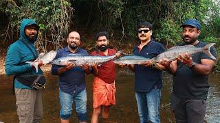 കടലിൽ പോയി മീൻ പിടിച്ച് ചുട്ടെടുത്തു | King Fish Catching And Cooking | Sea Fishing | Fish Hunting
