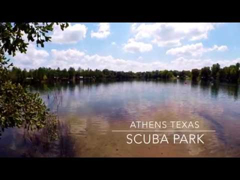 scuba diving at athens texas scuba park, gopro 4 black 1080