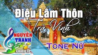 [Karaoke nhạc sống] Điệu Lâm Thôn Trà Vinh - Tone Nữ