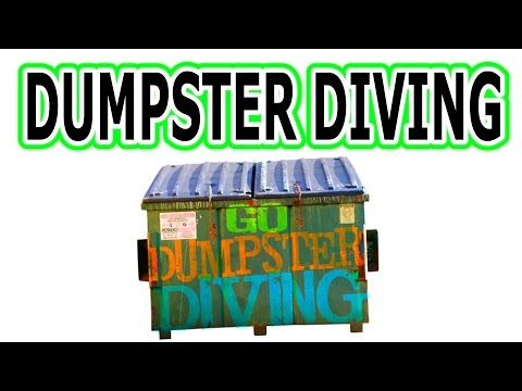Dumpster diving in Baltimore, Maryland