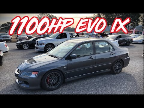 1100HP Sequential Evo IX goes 190mph - 55psi of BOOST!