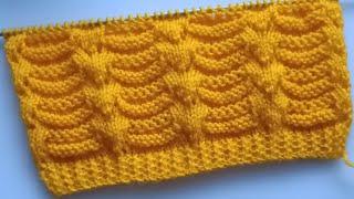 Elegant Knitting Stitch Pattern For Blankets/Sweater/Cardigans