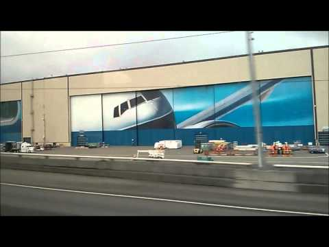 Boeing Everett Factory Drive-By