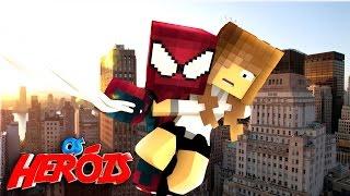 Minecraft: NAMORADA DO HOMEM ARANHA !!! #2 - (HEROIS)