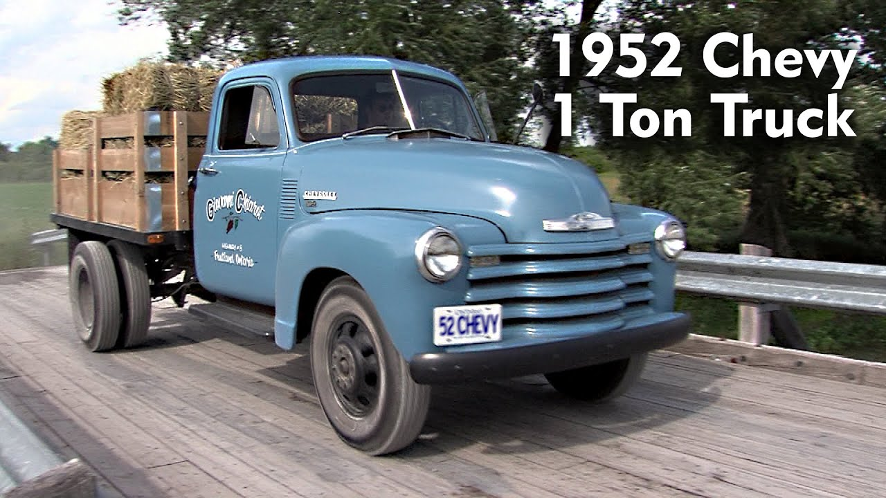 1952 chevy 1 ton youtube. Black Bedroom Furniture Sets. Home Design Ideas