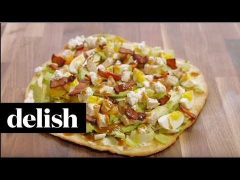 how-to-make-cobb-salad-pizza-|-delish