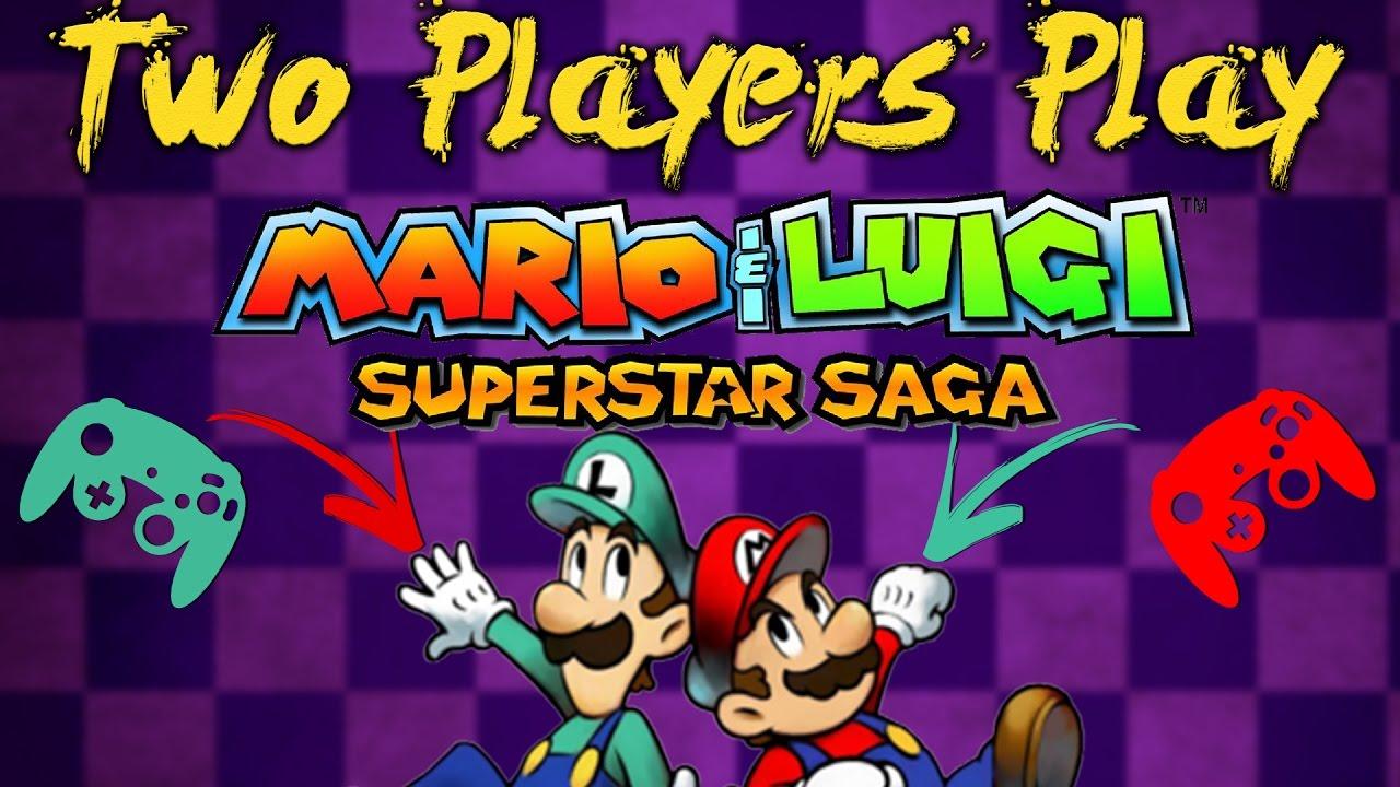 Two Players Play Mario And Luigi Superstar Saga