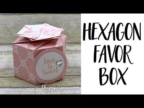 Hexagon Favor Box
