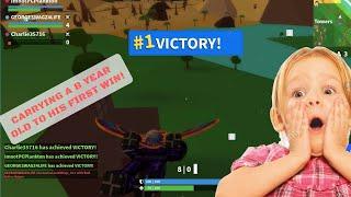 Mit einem 8-Jährigen zum Sieg in Island Royale! (Roblox Fornit)