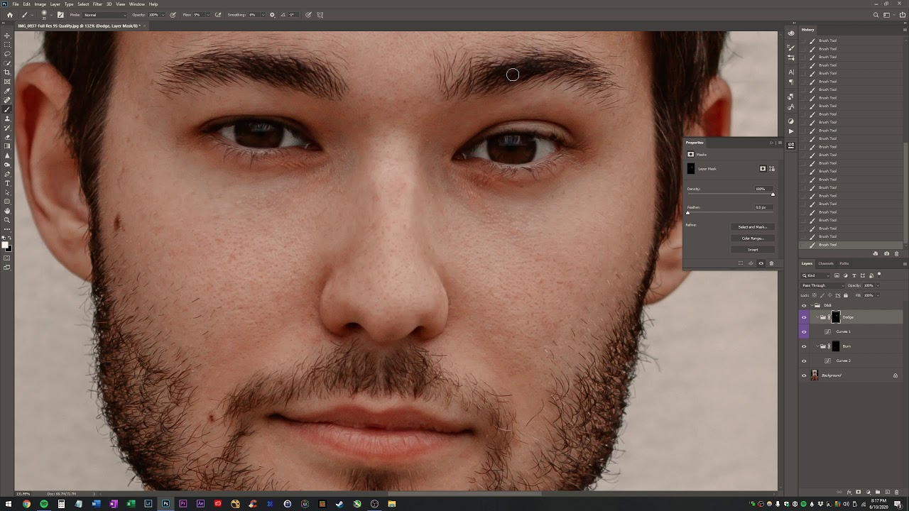 How to remove dark circles under eyes in Adobe Photoshop ...