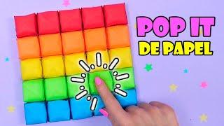 💥😍 POP IT DE PAPEL - Cómo hacer tu propio Pop It Casero DIY Fidget Toys! 💥😍