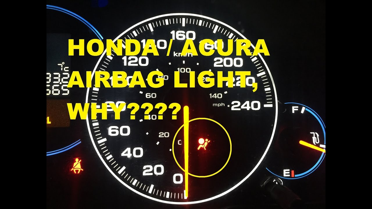 Honda Acura Airbag Light Possible Fixes YouTube - Acura tsx airbag
