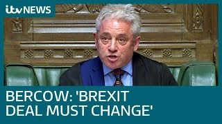 Reaction to outspoken speaker John Bercow's unexpected Brexit intervention | ITV News