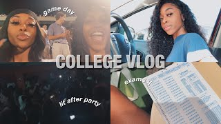 college vlog: failed exams, game day + a very (lit) after party🥵 | GSU💙