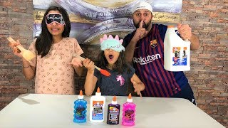 DADDY CHEATED!! Blindfolded Slime Challenge