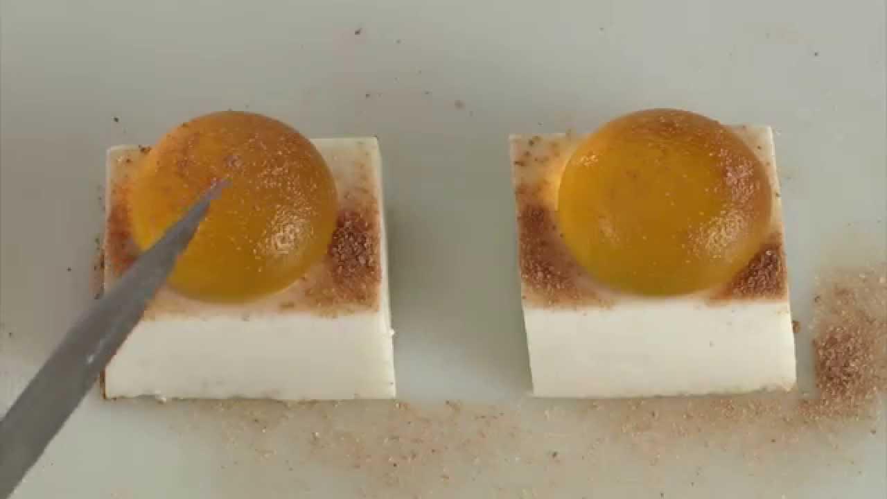Cuisine mol culaire fondant coco amande youtube for Cuisine moleculaire