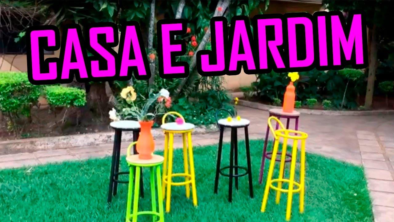 Casa e Jardim Dicas de decoraç u00e3o com material reciclado YouTube -> Decoração De Jardim Com Material Reciclavel